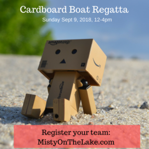 Lake Holiday Cardboard Boat Regatta